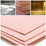 Лист: алюминиевый, латунный, медный, бронзовый
